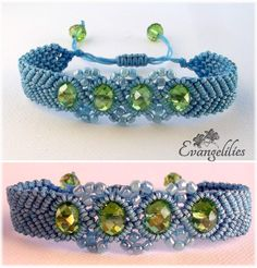 Wavy chevron beaded macrame bracelet! What a delight to make this beauty! Video tutorial by 'Macrame  School' here: https://www.youtube.com/watch?v=agIDOhzCYjU