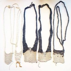knit necklaces
