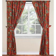 World Market® Tatiana Lined Rod Pocket Window Curtain Panel