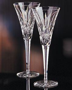 Lismore Toasting Flutes, Pair - Waterford