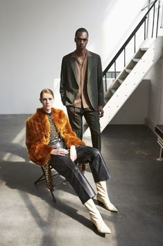 Petar Petrov jacket in burnt orange, blouse, and pants & Aeyde boots / Caruso suit in forest green and shirt in camel Celine, Balenciaga, Fendi, Valentino, Saint Laurent, Fall Winter, Autumn, Fashion Editor, Bring It On