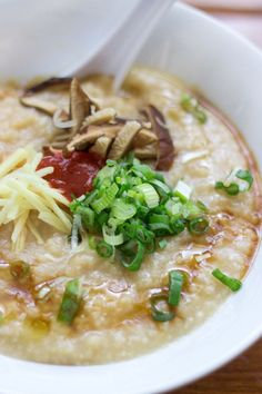 How to Make Authentic Chinese Congee (Rice Porridge)  #cantonese #food