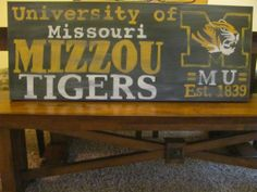 Mizzou Painting on gallery wrapped canvas  by Once Upon a Wall....12in. X 36in.