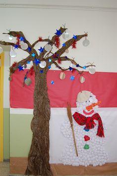 arbre de nadal i ninot de neu
