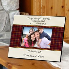 Personalized Father's Poem Picture Frames #PersonalizedFrame #FathersDay #FathersDayGift