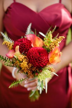 Fall Splendor Wedding|Photographer:  Erika Follansbee Photography