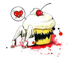 KILLER CUPCAKE by lora-zombie.deviantart.com on @deviantART