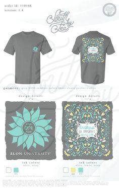 Phi Mu | Floral T-Shirt Design | Breakfast at Tiffany's | South by Sea | Greek Tee Shirts | Greek Tank Tops | Custom Apparel Design | Custom Greek Apparel | Sorority Tee Shirts | Sorority Tanks | Sorority Shirt Designs