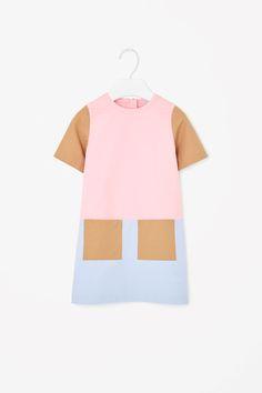 Block-colour cotton dress