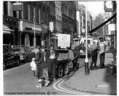 Corner of Old Compton Street and Frith Street. 1973.