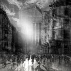 Urban Etchings: Artist layers multiple images to give the impression of pencil drawings   Creative Boom