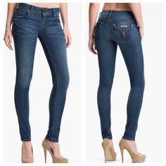 """Hudson Collin Skinny Jeans Hudson Collin Skinny Jeans. Size 24, inseam is 34"""". I outgrew these jeans after a couple of months, but they are so soft and very flattering! Hudson Jeans Jeans Skinny"""