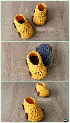 Crochet Hut's Spring Car Baby Booties Free Pattern - Crochet Baby Booties Slippers Free Pattern