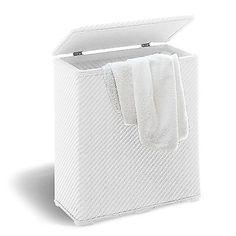 Cesto portabiancheria bianco in resina facile da pulire fondo antiodori offerta in Casa, Arredamento e Bricolage, Soluzioni salvaspazio, Ceste salvaspazio | eBay