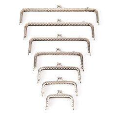 perfk 10 Pieces Retro Metal Coin Purse Frame Handbag Clasp Lock with Matching Screws 19cm