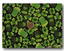 Jour de la Saint Patrick Green Beer - tissu à la verge