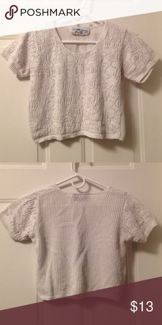 Knitted crop top Loveeee this crop top! I want to say I would wear this after having a baby, but I'm pretty sure I won't... cleaning my closet out!! It's also see through. 🌹 Tops Crop Tops