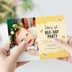 Paper & Things is a stationery studio focused on crafting digital goods that bring you happy vibes and good times. We hope to make your gatherings and events more magical with the invitations, signs, and other printables that we offer. 1st Birthday Photos, Birthday Ideas, Bee Photo, Party Pictures, Happy Vibes, Cute Baby Clothes, Photo Sessions, Photo Props, Little Ones