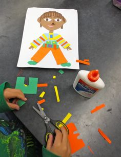 Zilker Elementary Art Class...self portraits