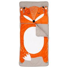 How Do You Zoo Sleeping Bag (Fox) - Land of Nod