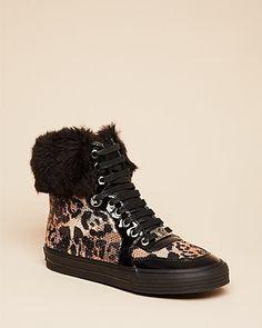 MICHAEL Michael Kors Girls' Cheetah High Top Sneakers - Walker, Toddler | Bloomingdale's