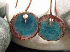 copper & turquoise handmade earrings