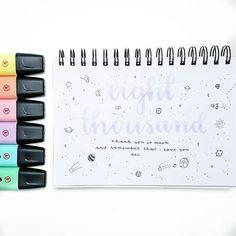 Pastel stabilo markers & space motifs