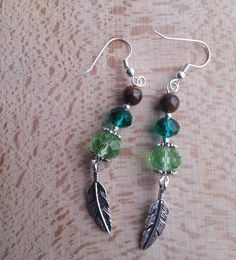 custom pieces - peacock inspired set to go with terracotta colour dress for a cruise. Earrings, jewellery, jewelry, handmade, turquoise, green, beads, tigers eye