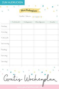Free weekly plan template to print out for the menu - Healthy Food Art Weekly Plan Template, Meal Prep Plan, Bistro Box, Weekly Schedule, Vegan Meal Prep, Pinterest Blog, Chicken Meal Prep, Meal Planning, Free Printables