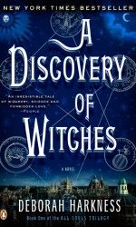 A Discovery of Witches by Deborah Harkness.  Loving this book-- nerdy science and scholarship, wine, vampires, and rowing. It was basically written for me.