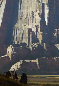 "fantasyartwatch: ""Giant Castle by Paul Chadeisson """