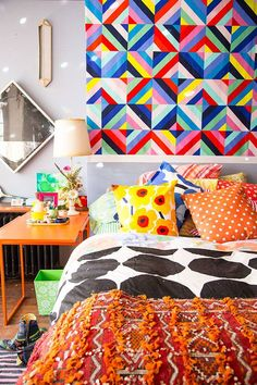 36 Boho Rooms With Too Many Prints (In a Good Way!)