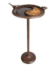 Antique Birdbath & Feeder