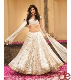 DE Decent Off White Multipurpose Designer Lehenga