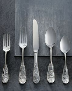 """20-Piece """"Woodland"""" Flatware Service at Horchow."""