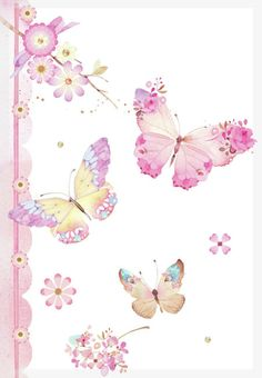Hand-painted pink butterfly background PNG and Clipart Butterfly Background, Butterfly Wallpaper, Pink Butterfly, Illustration Papillon, Illustration Art, Collages D'images, Art Papillon, Decoupage Paper, Beautiful Butterflies