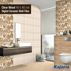 Everything lies in design. Clear Wood 40x80 cm Digital Ceramic Wall Tiles is a fine example of exquisite design. #KajariaCeramics