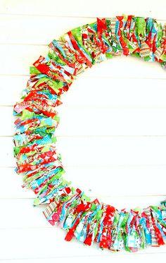 RagHearth rag wreaths (12) - From: http://stunninghomedecor.com/2015/11/16/raghearth-rag-wreaths-12/