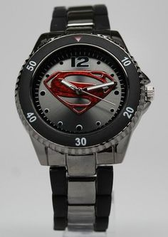 SuperheroWatches.com - Superman Man of Steel Watch Gun Metal (MOS8006)