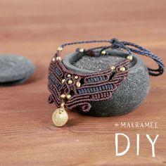 Macrame Bracelet Patterns, Macrame Bracelet Tutorial, Diy Friendship Bracelets Patterns, Macrame Patterns, Macrame Bracelets, Handmade Bracelets, Collar Macrame, Macrame Colar, Macrame Art