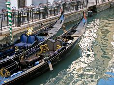 Blue Gondolas, Venice by chanteuse1, via Flickr