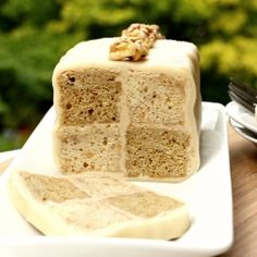 Coffee and Walnut Battenberg - This month's daring bakers challenge to make a checkered Battenberg cake