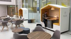 Mobile meeting & work pod for offices, events, coworking, waiting areas and reception areas