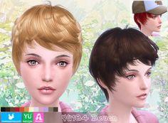 NewSea: YU 184 Devon hair • Sims 4 Downloads