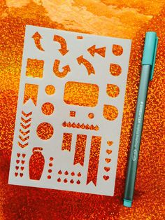 Erin Condren Transparent Planner/Journal Stencil  by VeryVivv