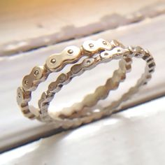 Platinum Bicycle Chain Rings for 2 Lovers set of 2 by ruiandaguri, $1600.00