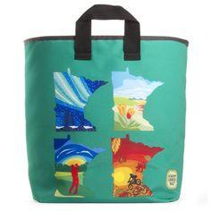 Minnesota Four Seasons Grocery Bag #ecofriendly #Americanmade #shoplocal #NEMpls