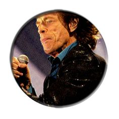 ONLY ONE Mich Jagger Rolling Stones 2-1/4 Inch Button