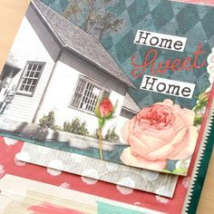 Home Sweet Home Baggy Book Project tutorial.  This book is made from colored shopping bags that were upcycled!!