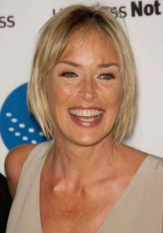 Hairstyles For Women With Thin Hair Sharon Stone Looks Leggy As She Collects Nobel Peace Award